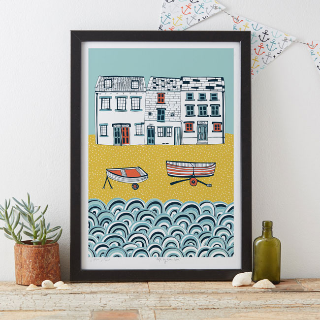 Life by the Sea Art Print by Jessica Hogarth