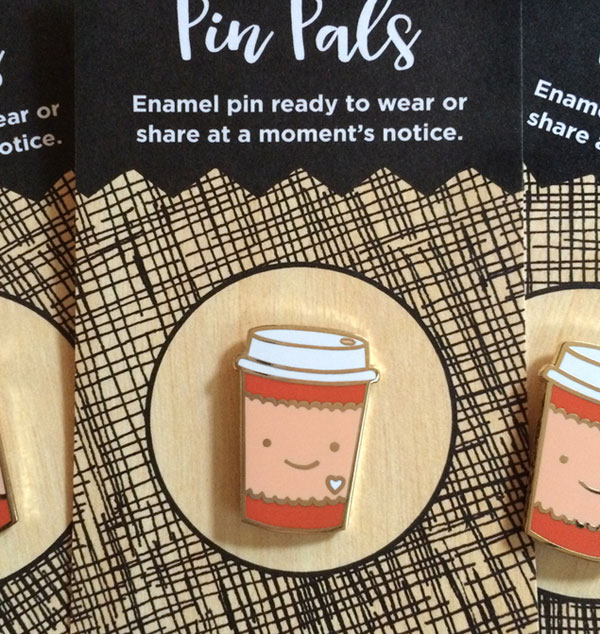 Coffee Lover Enamel Pin from Night Owl Paper Goods