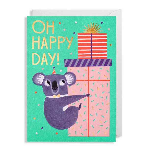 Oh Happy Day Koala Card by Allison Black for Lagom