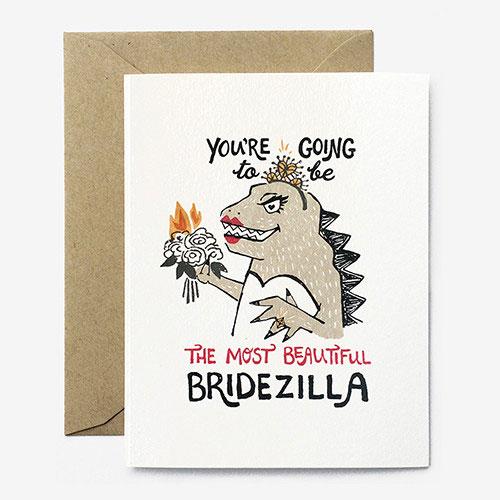 Beautiful Bridezilla Card from Paper Pony Co.
