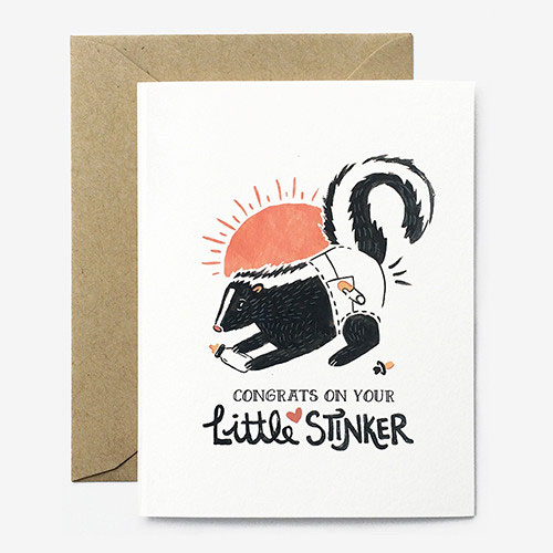 Little Stinker Baby Card from Paper Pony Co.