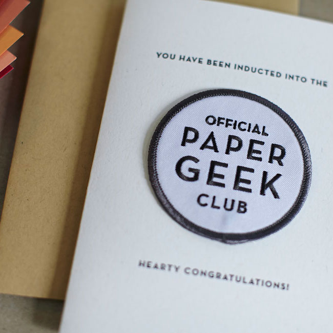 Paper Geek Patch Card from Constellation & Co.