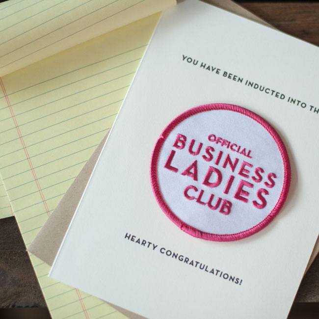 Business Ladies Patch Card from Constellation & Co.