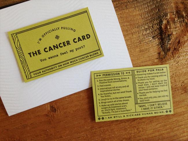 Igloo Letterpress Cancer Card