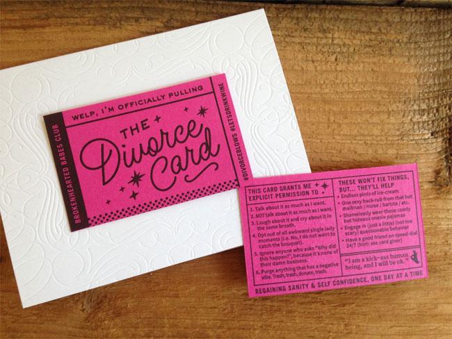 Igloo Letterpress Divorce Card