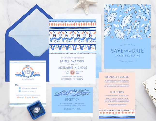 Castella Mare Wedding Invitations from Paper Raven Co.