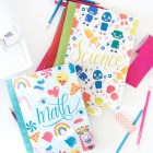 Free Printable Composition Notebook Covers from Damask Love