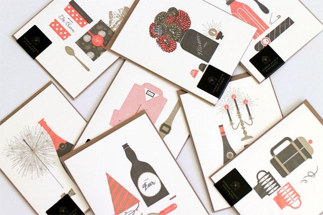 Letterpress Cards from Summer Studio Stationers #letterpress