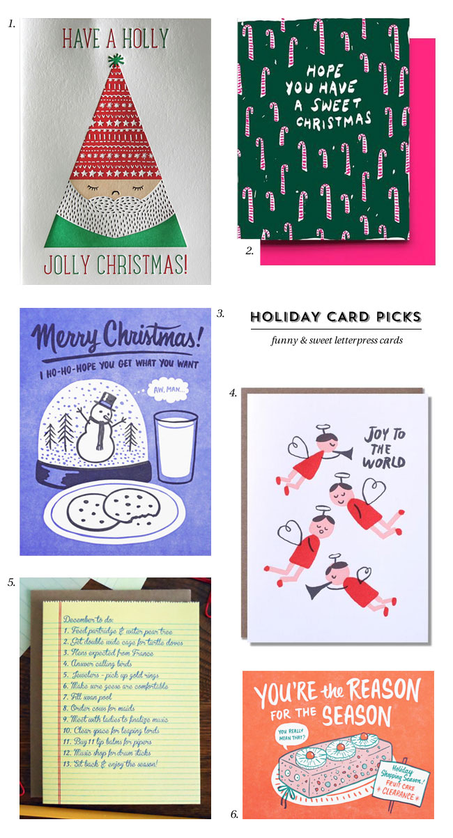 Fun & Sweet Letterpress Holiday Cards