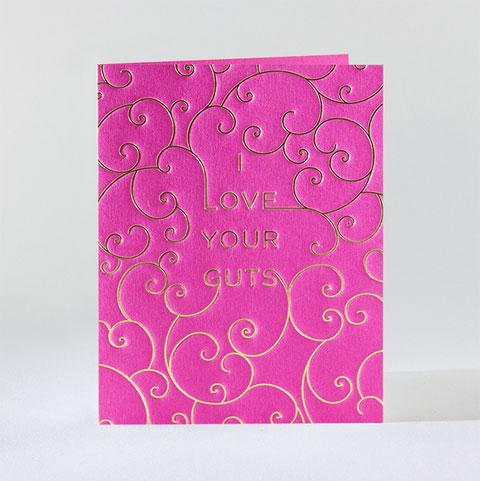 Love Your Guts Letterpress Card | elum