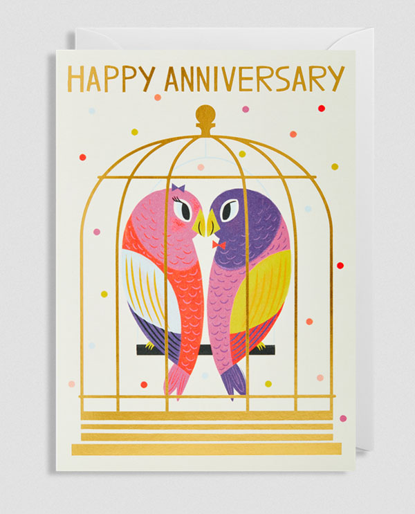 Happy Anniversary Greeting Card by Allison Black for Lagom