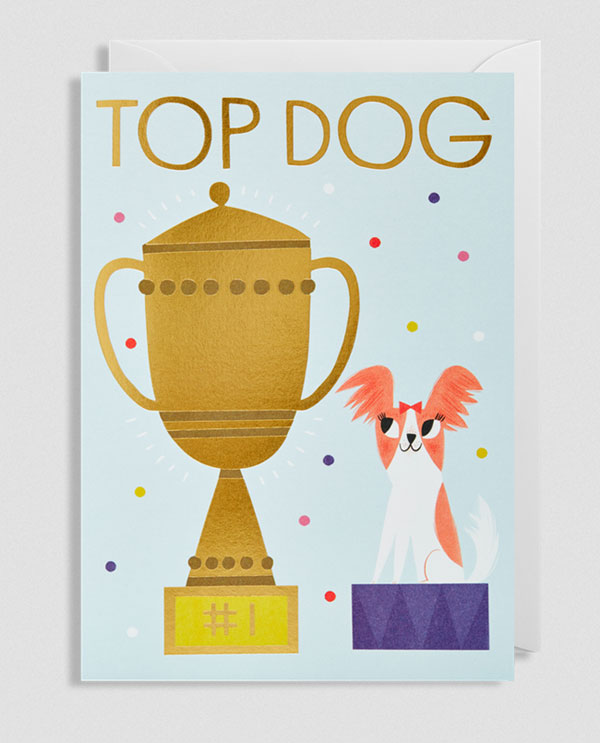 Top Dog Greeting Card by Allison Black for Lagom