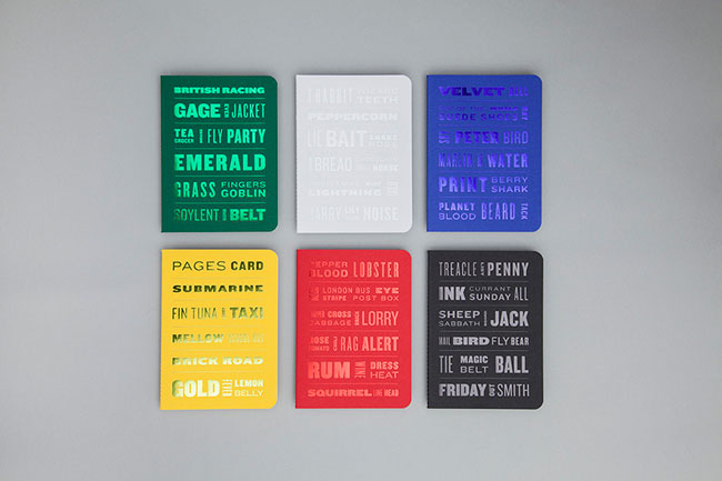 The Colour of Things Notebooks by Tom Crawshaw