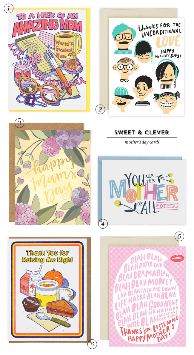 Sweet & Clever Mother's Day Cards