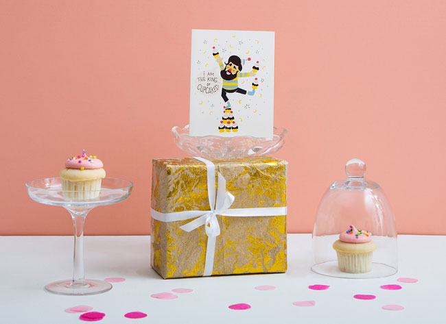 King of Cupcakes Card from Pilgrim Paper Co.