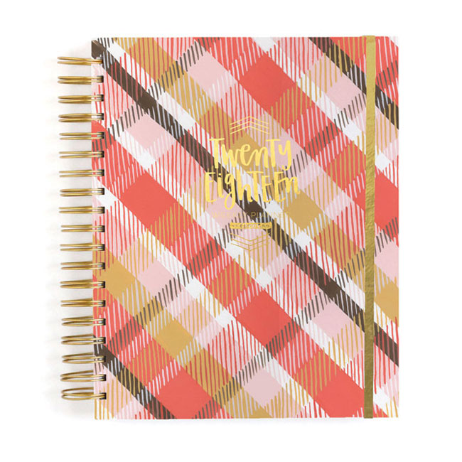 2018 Wise Words Planner (Plaid) | One Canoe Two
