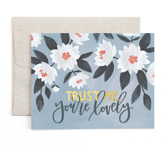 Trust Me Lovely Card | One Canoe Two