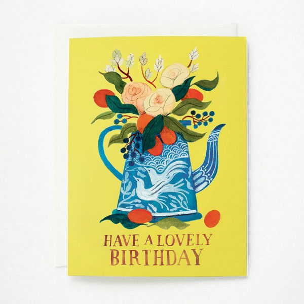 Lovely Birthday Card by Quill & Fox