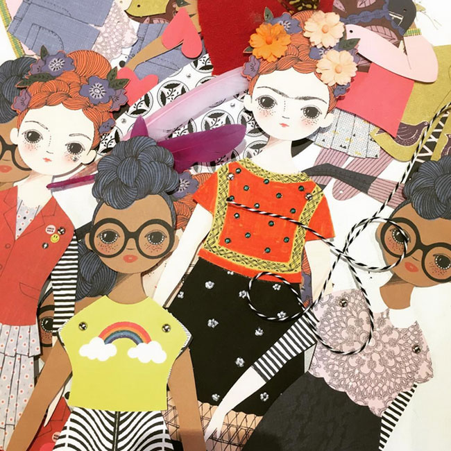 Beautiful Paper Dolls from Of Unusual Kind