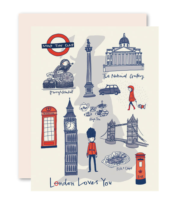 London Loves You Card by Pencil Joy