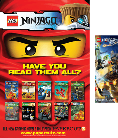 lego poster and bookmark