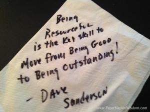 Dave Sanderson - Paper Napkin Wisdom