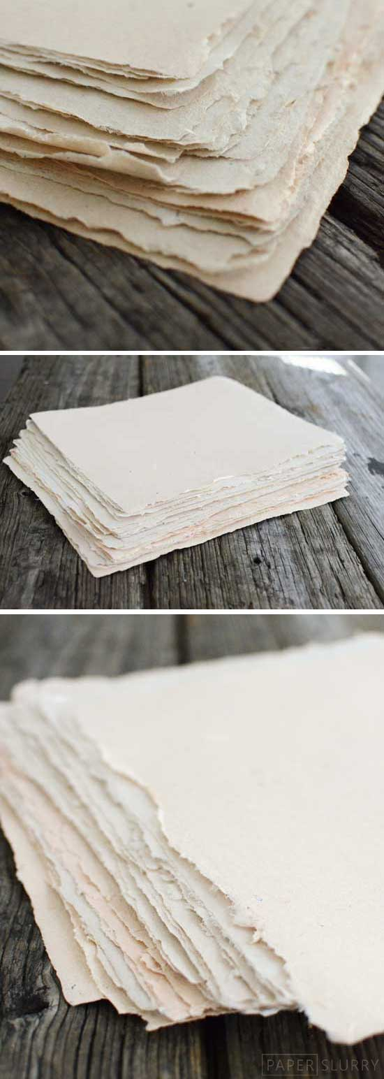 How to make handmade paper for Homemade recycled products