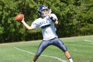 Sophomore Syre Gruber will be calling the shots for the Hill School offense this season. (Sam Stewart - Digital First Media)