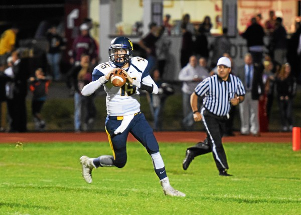 Upper Perkiomen quarterback Zeke Hallman. (Austin Hertzog - Digital First Media)