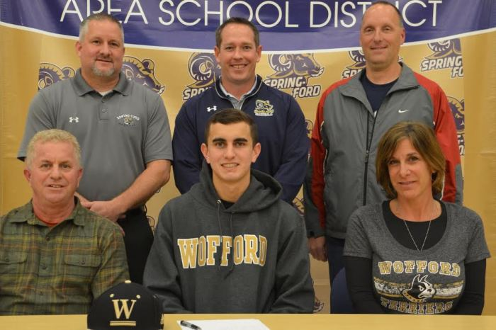 Spring-Ford's Jake Zoller signs on with Wofford College