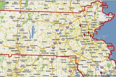 Map Of Western Mass Towns - Mass map