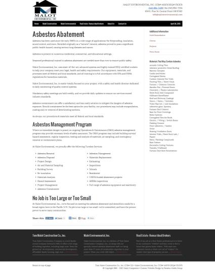 Asbestos Abatement - Malot Companies