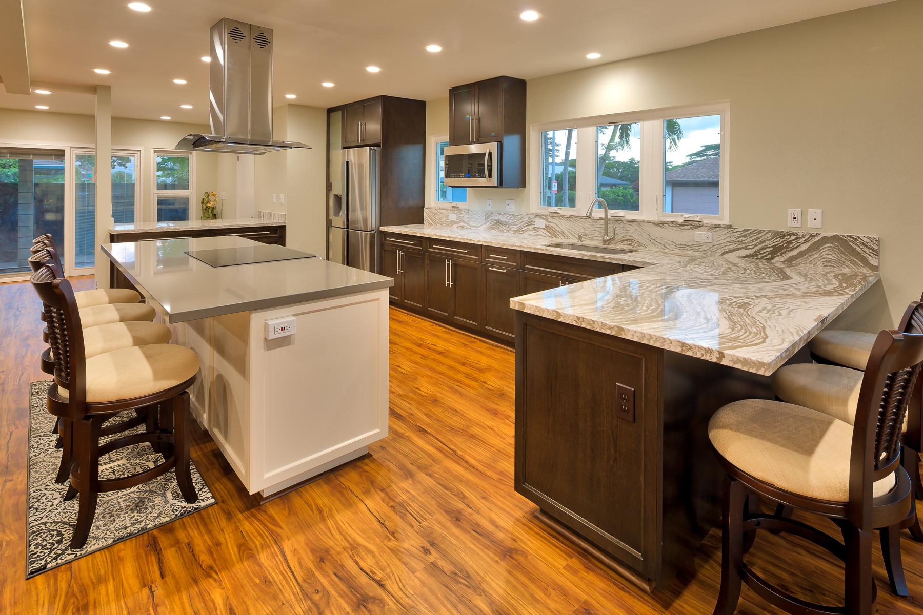 paragonbuildershawaii kitchen remodel hawaii Mililani residence