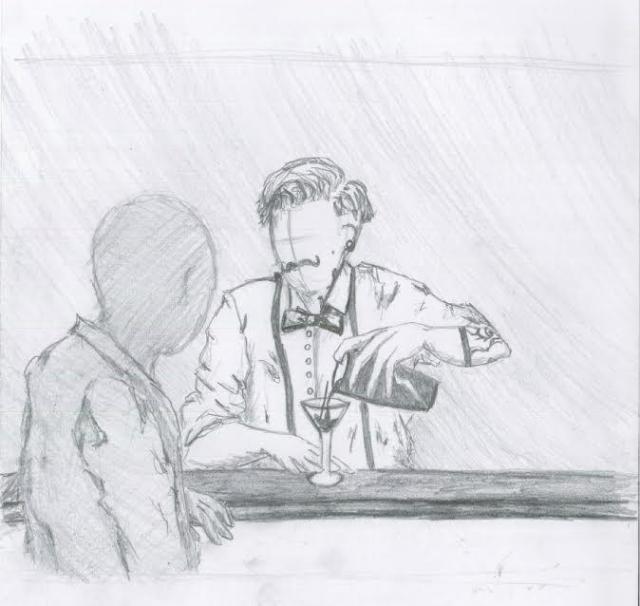 Εικόνα από το storyboard της ταινίας. Σχέδιο: Χαρά Γεωργάκη