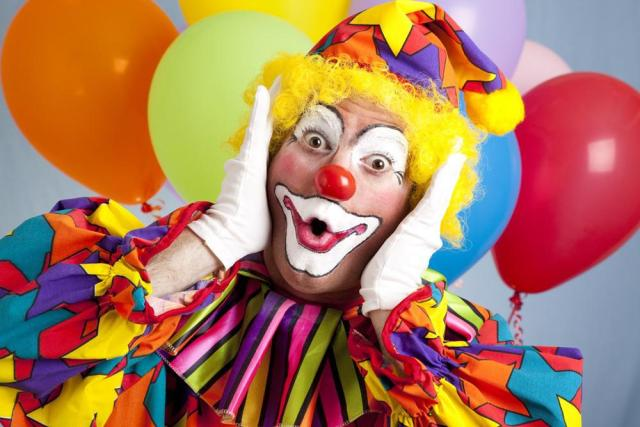 Surprised Birthday Clown