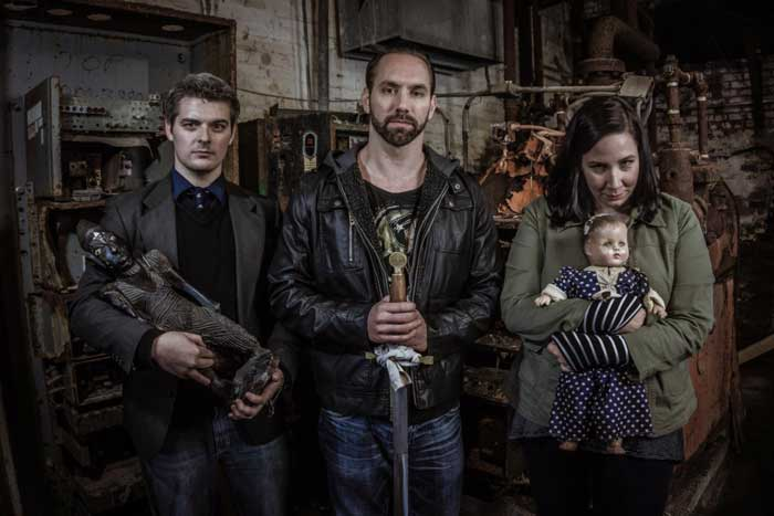 nick-groff-with-paranormal-museum-curators-greg-newkirk-and-Dana-matthews