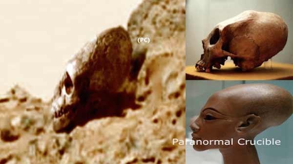 Des crânes Égyptiens Extraterrestres trouvés sur Mars