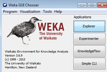 weka gui chooser machine learning