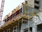 Balcons et murs en construction, Bâtiment A en limite du Bâtiment B