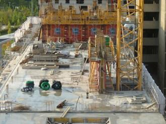 Parc 17, bâtiments A & B, dalle du 6° étage et 1ers murs, 3 octobre 2014