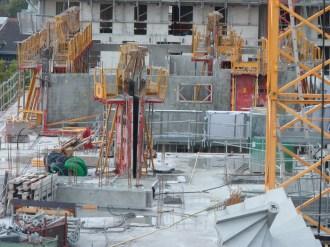 Parc 17, bâtiment A, murs des appartements du 7° étage, 17 octobre 2014