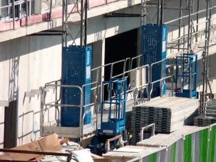 Nouveau lift entre les bâtiments B & C