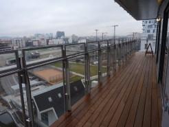 Balcon, vue vers l'Ouest