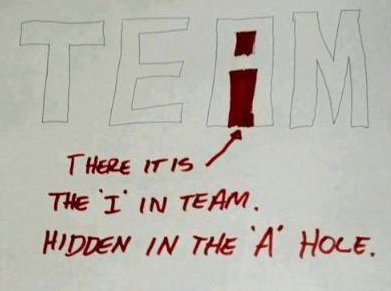 there is an i in team hidden in the A hole