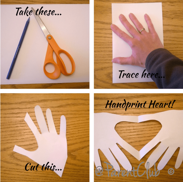 hand print heart craft