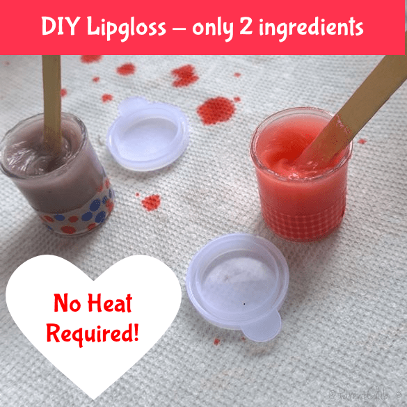 DIY lip gloss only two ingredients