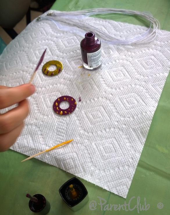 DIY Washer necklaces - craft party diy birthday party ideas