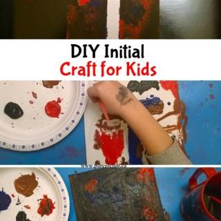 DIY Initial Craft For Kids
