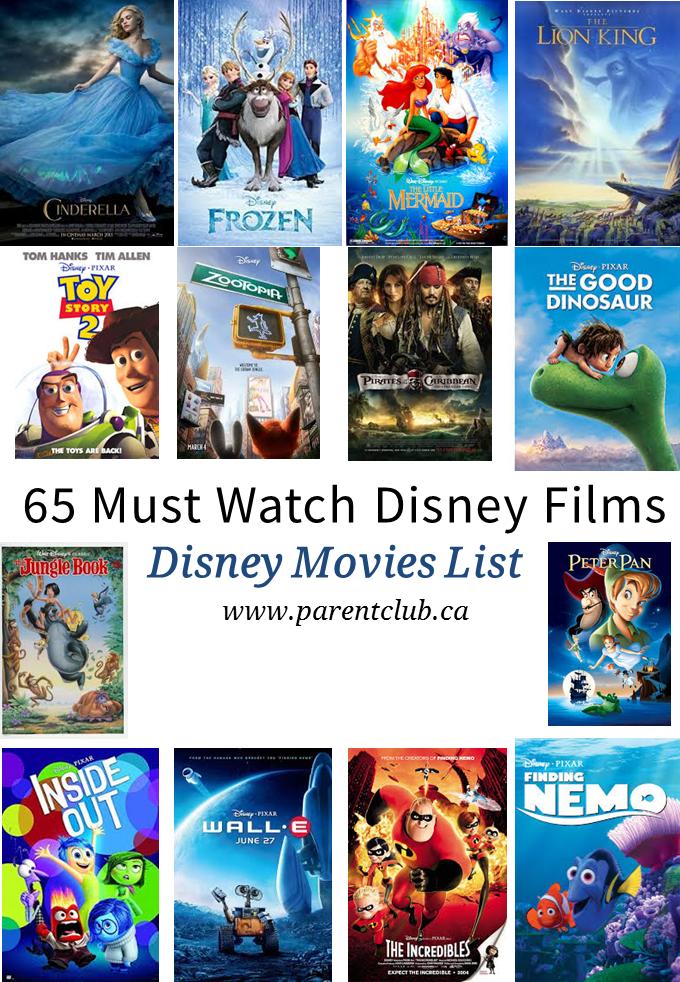 65 Must Watch Disney Films