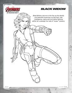 DOwnload Black Widow Coloring Page